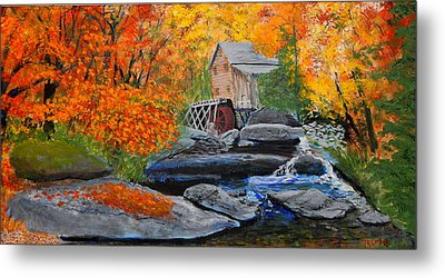 West Virginia Grist Mill Metal Print by William Tremble