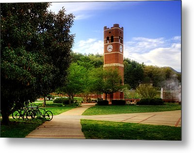 Western Carolina University Alumni Tower Metal Print by Greg and Chrystal Mimbs