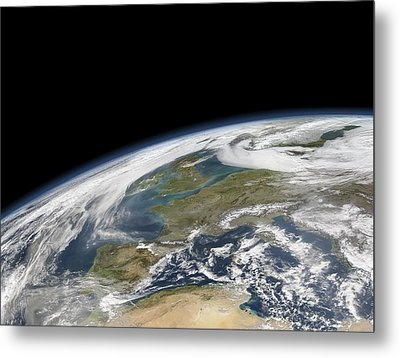 Western Europe, Satellite Image Metal Print by Science Photo Library