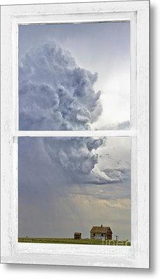 Western Storm Farmhouse Window Art View Metal Print by James BO  Insogna