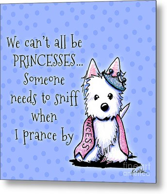 Westie Princess Metal Print by Kim Niles