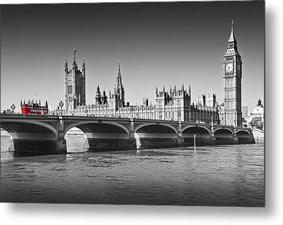 Westminster Bridge Metal Print by Melanie Viola