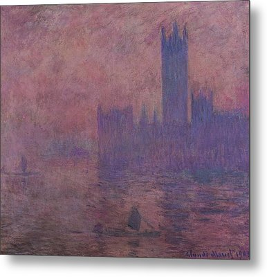 Westminster Tower Metal Print by Claude Monet