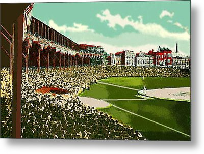 Westside Park Baseball Stadium In Chicago Il In 1914 Metal Print by Dwight Goss