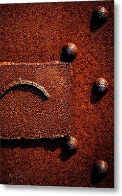 Wet Rust Metal Print by Bob Orsillo