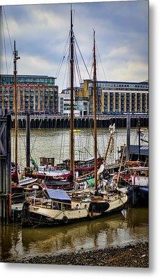 Wharf Ships Metal Print by Heather Applegate