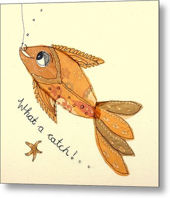 What A Catch Metal Print by Hazel Millington
