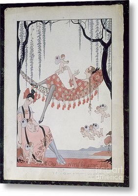 What Do Young Women Dream Of? Metal Print by Georges Barbier