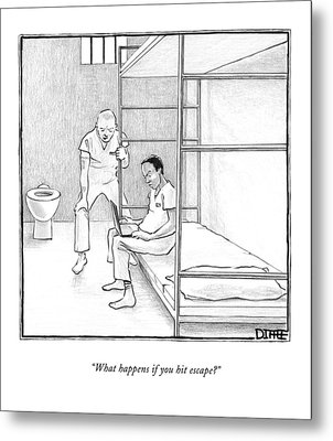 What Happens If You Hit Escape? Metal Print by Matthew Diffee