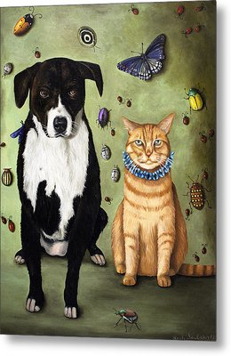 What's Bugging Luke And Molly Metal Print by Leah Saulnier The Painting Maniac