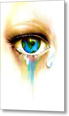 What's In A Tear? Metal Print by Andrea Carroll