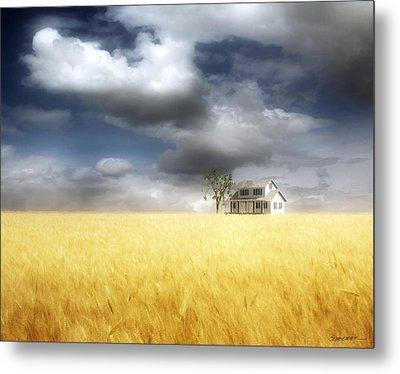 Wheat Field Metal Print by Cynthia Decker
