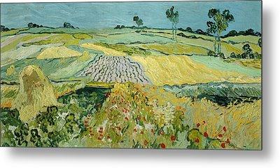 Wheatfields Near Auvers-sur-oise Metal Print by Vincent van Gogh
