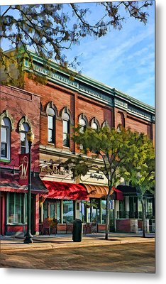 Wheaton Front Street Stores Metal Print by Christopher Arndt