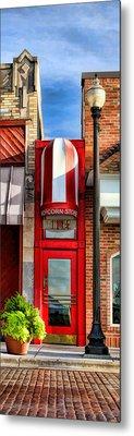 Wheaton Little Popcorn Shop Panorama Metal Print by Christopher Arndt