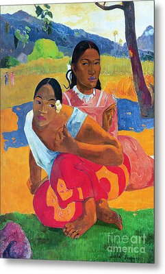When Are You Getting Married Metal Print by Paul Gauguin