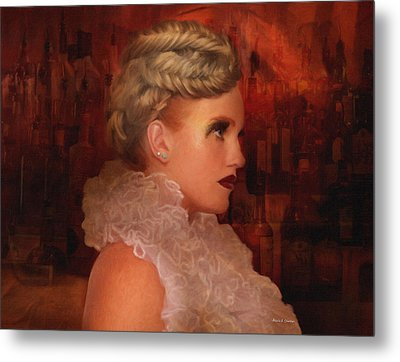 When In Paris Visit The Moulin Rouge Metal Print by Angela A Stanton