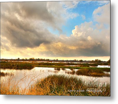 When The Rain Stopped Over Gray Lodge Metal Print by Artist and Photographer Laura Wrede