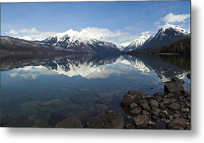 When The Sun Shines On Glacier National Park Metal Print by Fran Riley