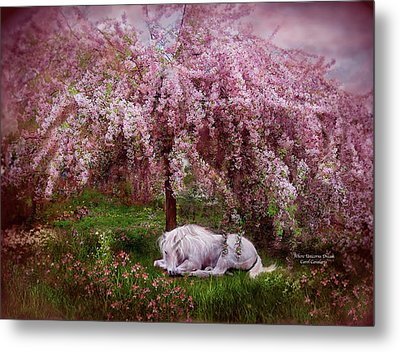 Where Unicorn's Dream Metal Print by Carol Cavalaris