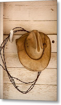 Wherever I Lay My Hat Metal Print by Peter Tellone