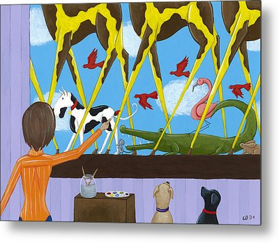 Whimsical Painting Metal Print by Christy Beckwith