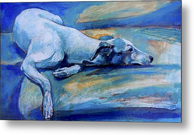 Whippet-effects Of Gravity-6 Metal Print by Derrick Higgins