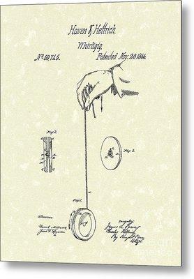 Whirligig 1867 Patent Art Metal Print by Prior Art Design