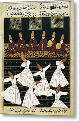 Whirling Dervishes 16th C.. Ottoman Metal Print by Everett