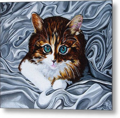 Whiskers The Cat Metal Print by Annette Jimerson