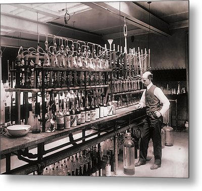 Whiskey Test Lab  1914 Metal Print by Daniel Hagerman