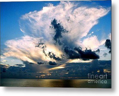 Whispers From The Heavens Off The Coast Of Louisiana Metal Print by Michael Hoard