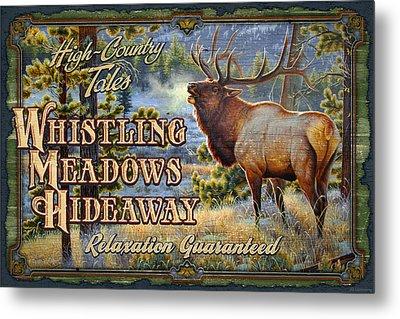 Whistling Meadows Elk Metal Print by JQ Licensing