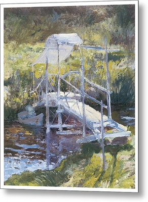 White Bridge Metal Print by John Twachtman