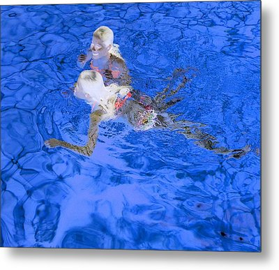 White Hair Blue Water 4 Metal Print by Dietrich ralph  Katz