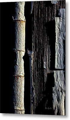 White Hinge On The Old Red Barn Metal Print by Bob Orsillo