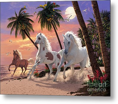 White Horses Metal Print by Steve Read
