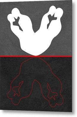 White Kiss Metal Print by Naxart Studio