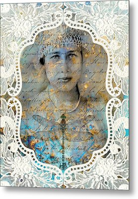 White Lace Metal Print by Judy Wood