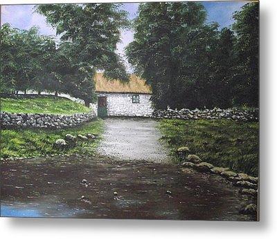 White O' Morn Cottage Metal Print by Robert Gary Chestnutt