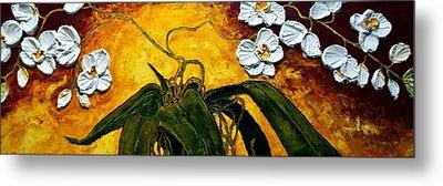 White Orchids Metal Print by Paris Wyatt Llanso
