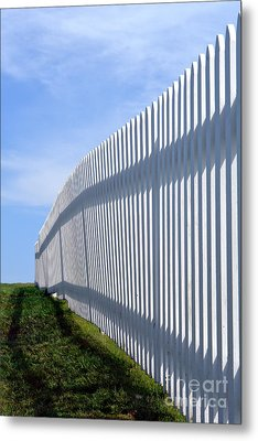 White Picket Fence Metal Print by Olivier Le Queinec