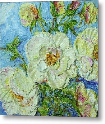 White Roses Metal Print by Paris Wyatt Llanso