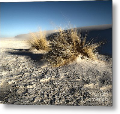 White Sands New Mexico Among The Dunes Metal Print by Gregory Dyer