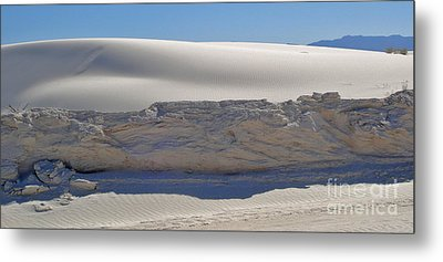 White Sands New Mexico Sand Dune Crumble Metal Print by Gregory Dyer