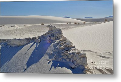 White Sands New Mexico Sand Rift Metal Print by Gregory Dyer
