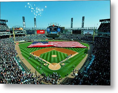 White Sox Opening Day Metal Print by Benjamin Yeager