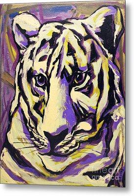 White Tiger Not Metal Print by Becca Lynn Weeks