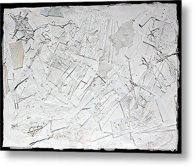 White Web Collage 6 Metal Print by Hari Thomas