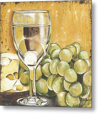 White Wine And Cheese Metal Print by Debbie DeWitt